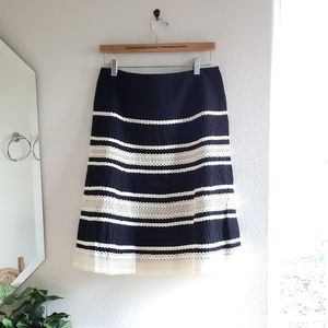 Talbots Black and Light Cream A Line Skirt Size 8